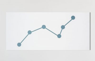 Line graph data analysis icon